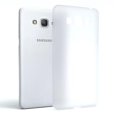 Schutz Hülle für Samsung Galaxy Grand Prime Cover Handy Case Matt Transparent