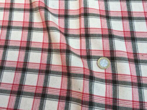 """Chemise Tissu CANALI 100/% Plaid flanelle de coton tissu par mètre /""""un/"""","""