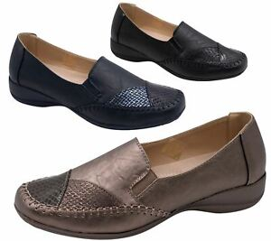 Womens-Flat-Shoes-Ladies-Pumps-Office-Work-Casual-Slip-On-Loafer-Size
