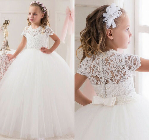 Mariage Fleur Fille Robe de parti bal princesse Pageant demoiselle d/'honneur filles formelles du