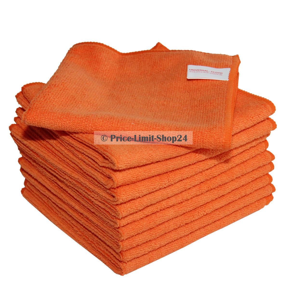 Microfaser Tücher Tuch Mikrofaser Poliertücher  Premium Universal Orange 300g m² | Ausgezeichneter Wert  | New Style
