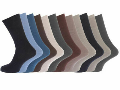12 Pairs Mens Elastic 100% Pure Cotton Socks Comfort Soft Grip Diabetic 6-11 Moderne Techniken