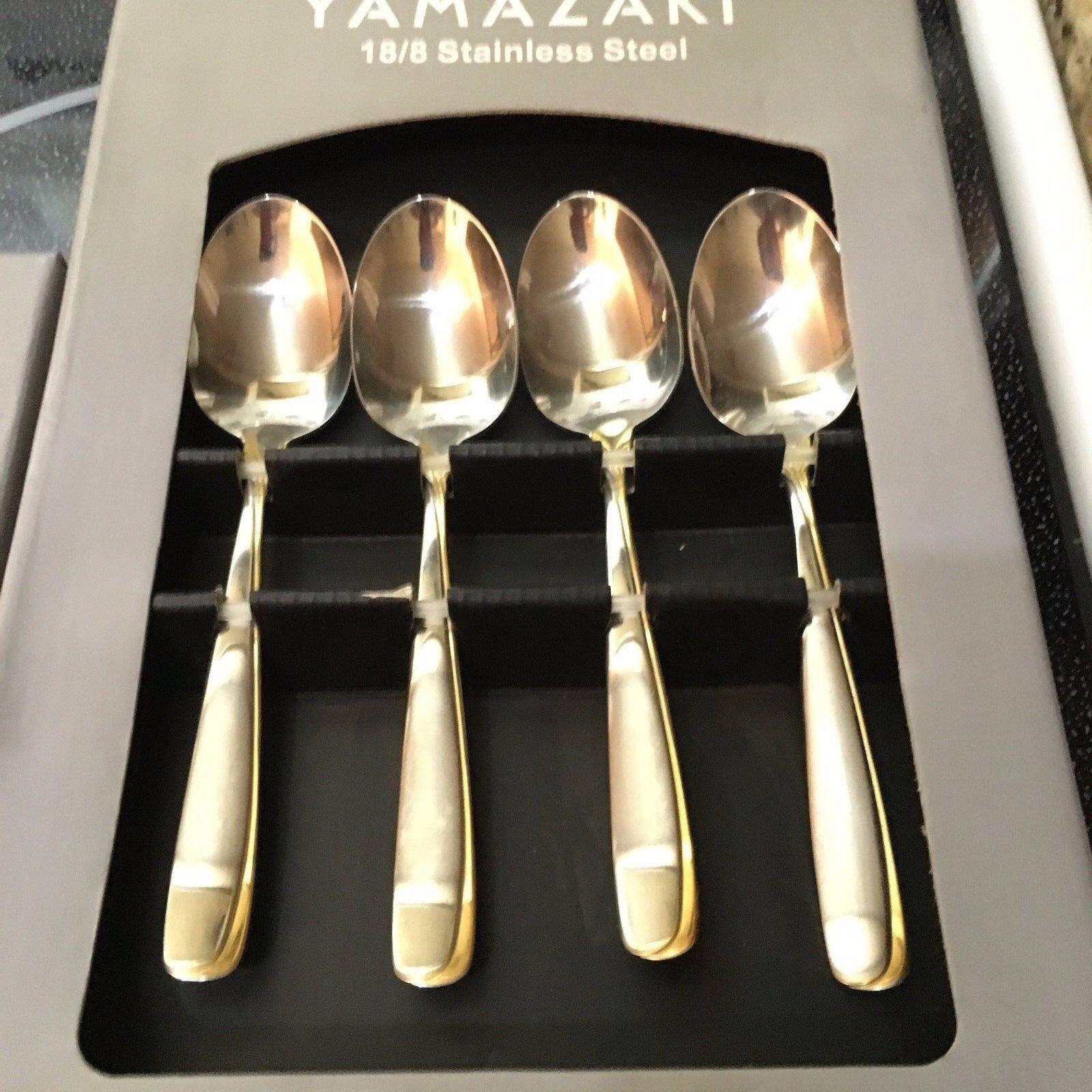 Nouveau Yamazaki Affair or accent Set 4 Cuillères à Café Dessert-distributeur autorisé
