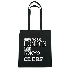 Tokyo London Bolsa Negro Yute Paris Clerf York Color New De 45BUtt