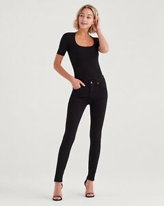 Mankind For 26x25 Skinny Stretch a1 Women's 2929 842902159611 Usa Jeans Nwt Black 7 All q1p5pt