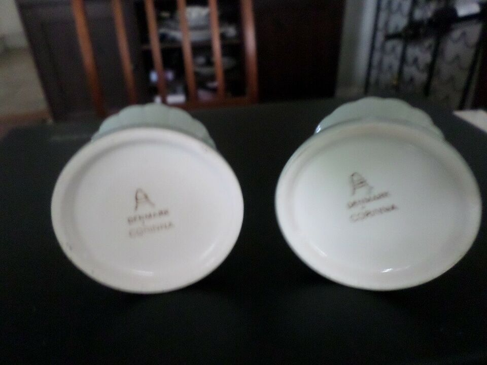 Fajance, lysestager, Aluminia