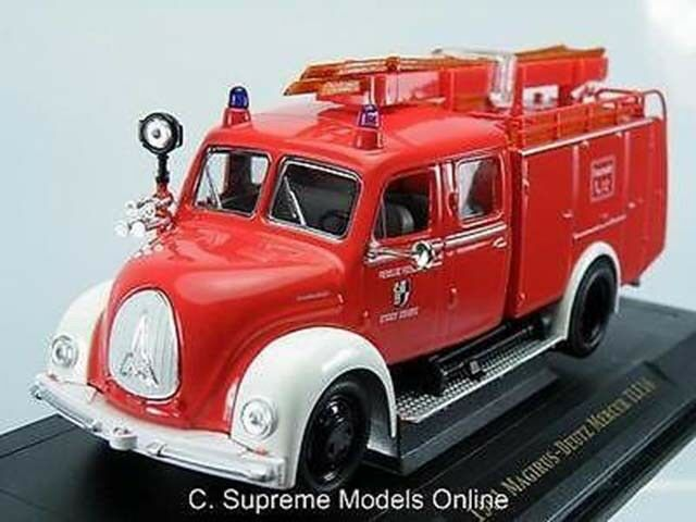WHITE RED MAGIRUS-DEUTZ FIRE ENGINE 1 43RD FEUERWEHR GERMANY EXAMPLE T3412Z(=)