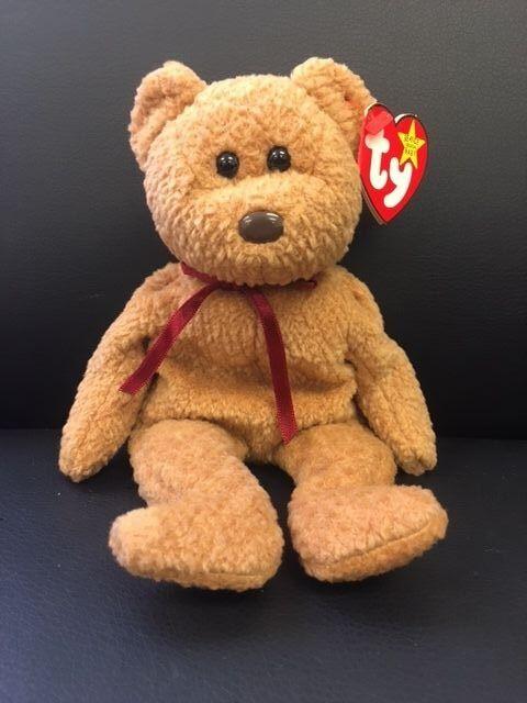 Original Ty Beanie Baby Collection Teddy Bear Curly ERROR