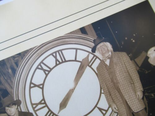 Back to the Future 1885 Photo of Doc and Marty in front of the Clock-Tower