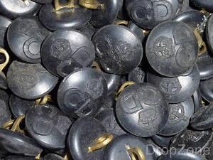 P-WWII-Britanico-Defensa-Civil-Corps-CD-King-039-s-Corona-Botones-Grande-S-Qty-20