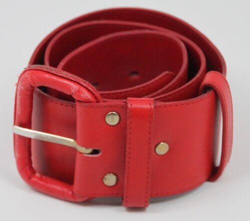 "Vintage 1980s MONDI - CHUNKY Red 2"" Leather Belt S"