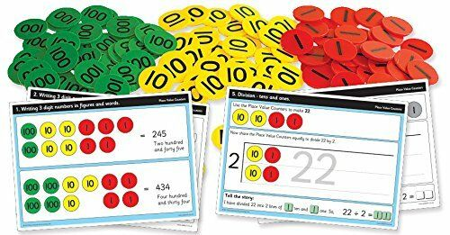 Inspirational Classrooms 3125202  Place Value HTU Counters and Work Card  Educat