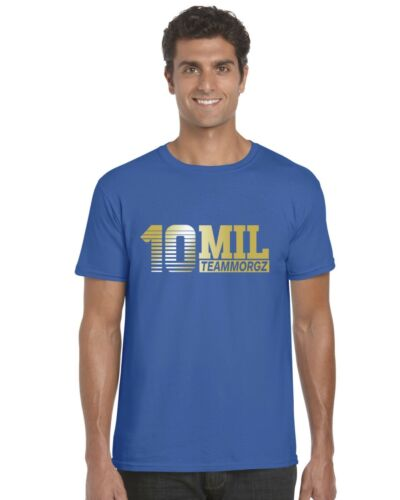 Gold Print Ages 3-13 Tee Top 10 Mil Morgz Team Morgz Kids T-Shirt