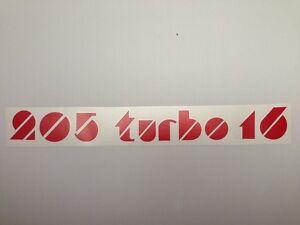 Autocollant-sticker-monogramme-Peugeot-205-Turbo-16