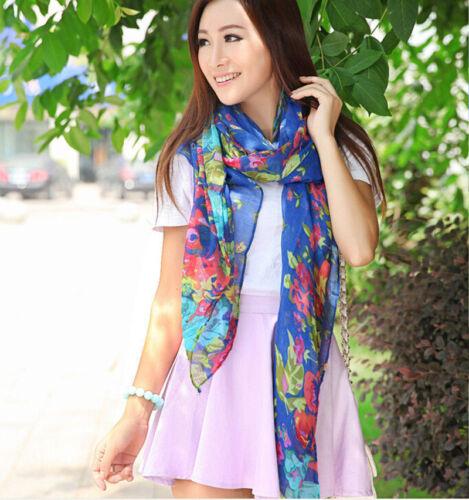 Women/'s Fashion Pretty Long Soft Chiffon Scarf Wrap Shawl Stole Scarves