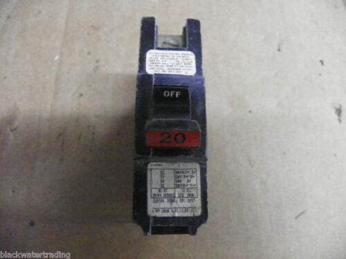 FPE CIRCUIT BREAKER 1 POLE 20 AMP STAB-LOK FEDERAL