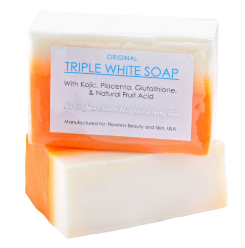 12 Bars Of Authentic Kojic Acid & Glutathione Triple Whitening Bleaching Soap