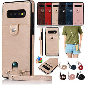 For-Samsung-Galaxy-S10-Plus-Note-10-9-8-S7-S8-S9-Card-Wallet-Case-Shoulder-Strap