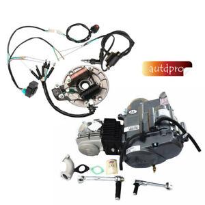 details about lifan 25cc clutch kick start engine motor cdi wiring harness  coil pit dirt bike