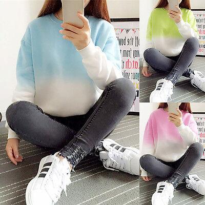 Women Long Sleeve Sweatshirt Jumper Sweater Hoodie Pullover Coat Tops ComfortVNC