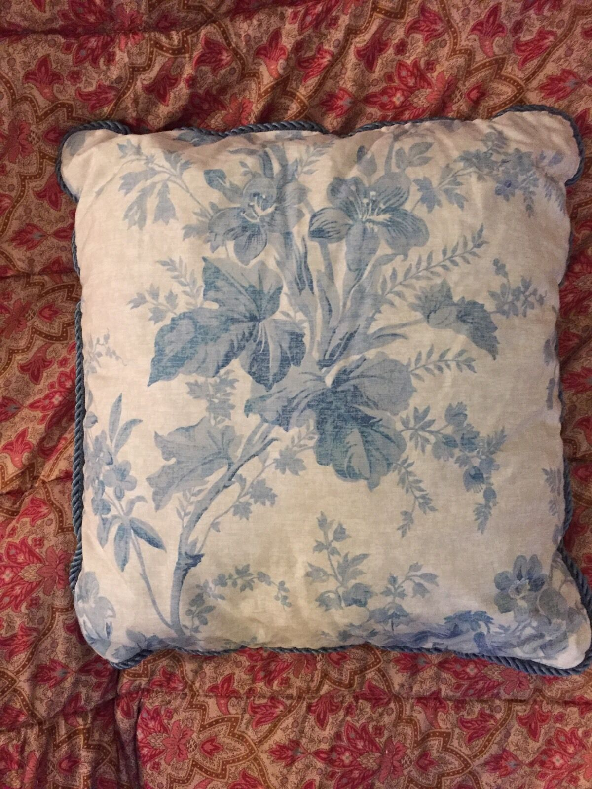 RALPH LAUREN one THROW PILLOW Coral Harbor Floral