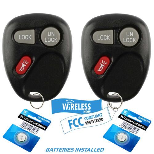 2 Car Key Fob Keyless Entry Remote For 2000 2001 Chevrolet Suburban 1500 2500