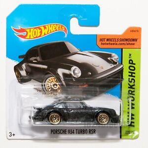 Porsche-934-Turbo-Rsr-negro-escala-de-2015-Hot-Wheels-1-64-Raro-Coleccionable-Regalo