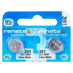 2-x-Renata-391-Pila-Batteria-Orologio-Mercury-Free-Silver-Oxide-SR1120SW-1-55V