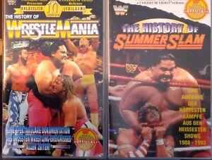 WWE 2-pack History of Wrestlemania & Summerslam ORIG 2 VHS Set WWF Wrestling - Bruchsal, Deutschland - WWE 2-pack History of Wrestlemania & Summerslam ORIG 2 VHS Set WWF Wrestling - Bruchsal, Deutschland