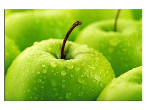 Grüne Äpfel Obst Leinwandbilder auf Keilrahmen A06026 Wandbild Poster