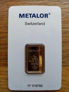 5 Gram Gold Bar INVESTMENT GIFT (Brand New)