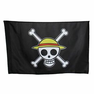 Details About One Piece Skull Pirate Logo Monkey D Luffy Going Merry Flag Straw Hat