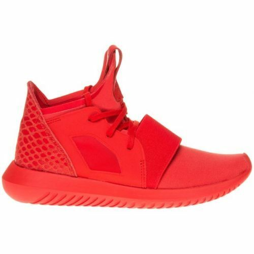 New Womens adidas Red Tubular Defiant Textile Trainers Animal Lace Up Size 7