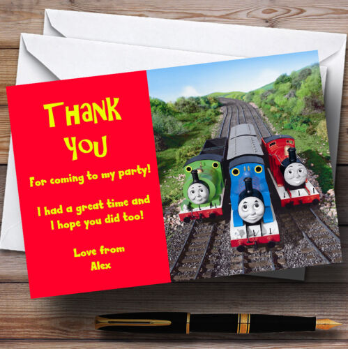 Thomas e Tank /& Friends Personalised Children/'s Party Thank You Cards