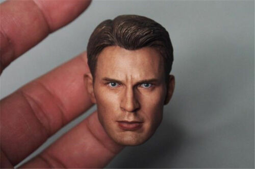 1/6 Chris Evan Captain America Head Sculpt 5.0 For Hot Toys Body in stock