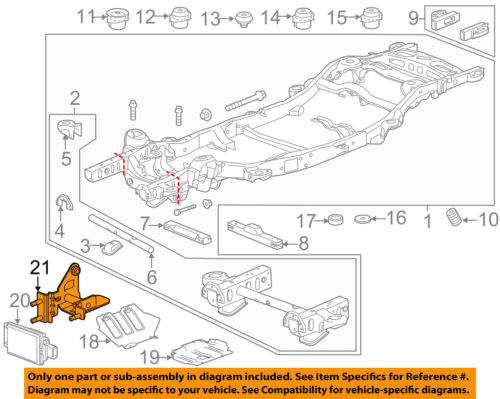 GMC GM OEM 15-18 Yukon XL Frame-Distance Sensor Bracket 23445225