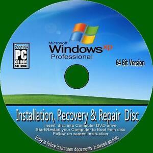Windows-XP-Pro-64-Bit-Installation-Wiederherstellung-Recovery-Reset-Setup-Reparatur-Fix-PC-DVD-SP
