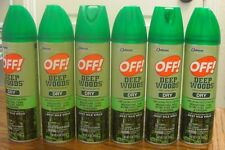 6 qty----OFF! Deep Woods Dry Spray 4oz -- DEET 25%---FREE SHIPPING