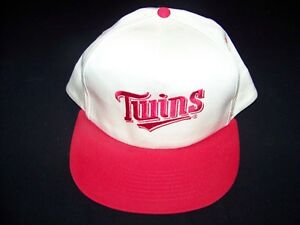 fba9db95e5f Image is loading Minnesota-Twins-vintage-Snapback-Dairy-Queen-cap-1980s-