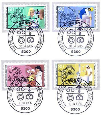 Brd 1986: Jugendmarken Nr. 1274-1277 Mit Bonner Ersttags-sonderstempeln! 1a! 156 SchüTtelfrost Und Schmerzen