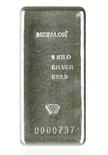 Kilo Silver Metalor Bars .9999 Well-Known LBMA/Comex Acceptable Brand