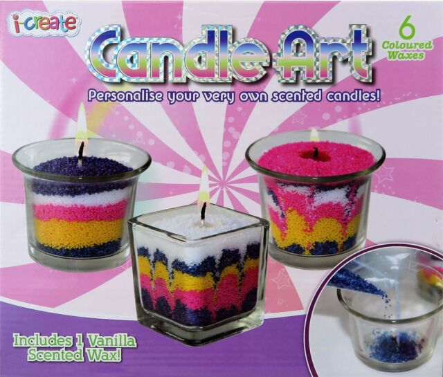 Candle Making Kit Sand Art Craft Scented Wax Wick Candles ...