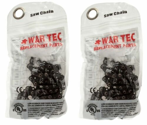 """WAR TEC 16/"""" Chainsaw Chain Pack Of 2 Fits STIHL 024 026 028"""