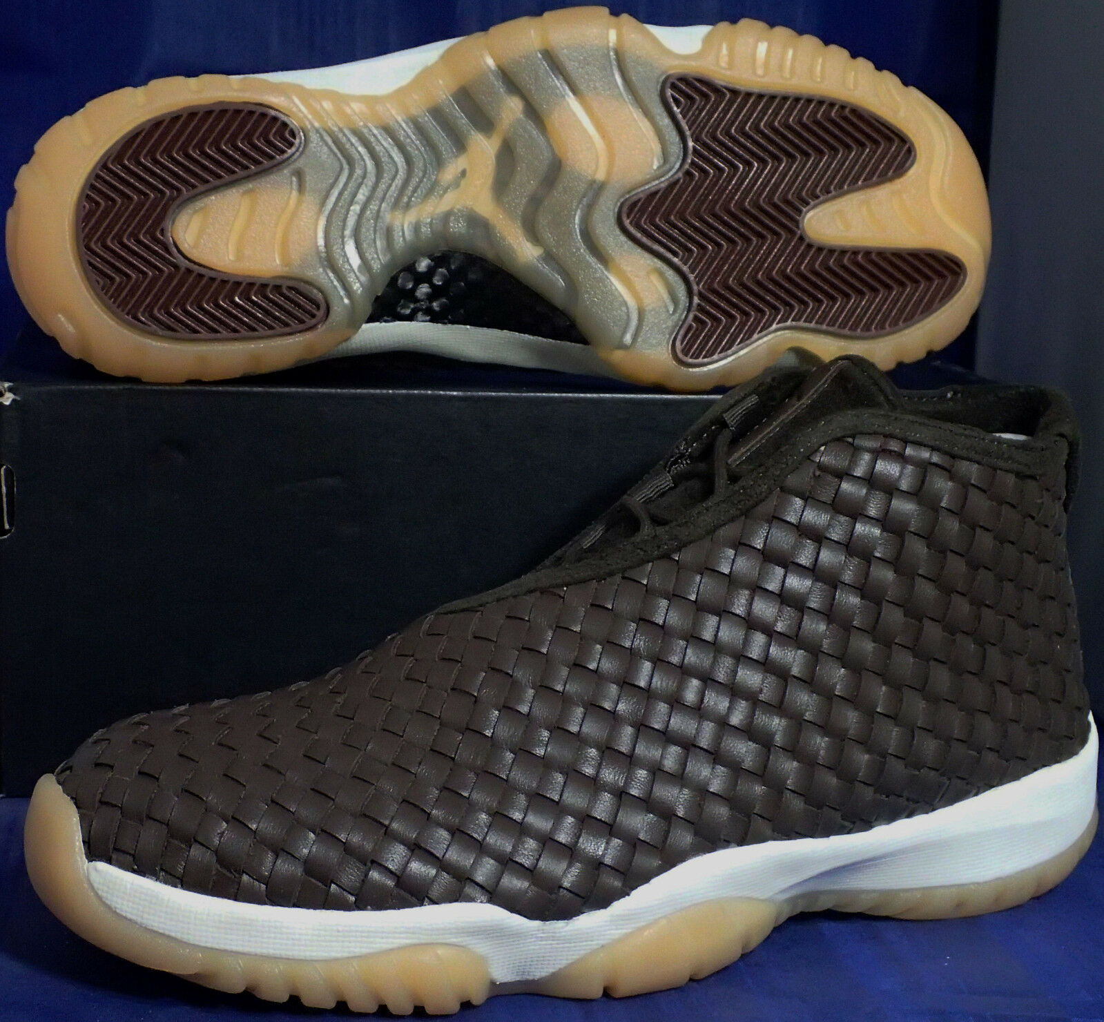 2985192e683b Nike Nike Nike Air Jordan Future Premium Dark Chocolate Gum Yellow SZ 12 (  652141-