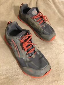 Altra-Lone-Peak-4-Mens-14-Trail-Running-Hiking-Gray-Red
