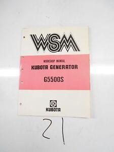 kubota generator workshop manual 85 g5500s ebay rh ebay com Kubota Diesel Generator Parts Super Quiet Diesel Generators Portable