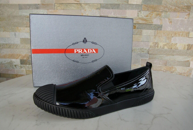 PRADA Slip-On Gr 36,5 Slipper Mokassins Slip-On PRADA Schuhe Schuhes 3S5952 schwarz e2ded1