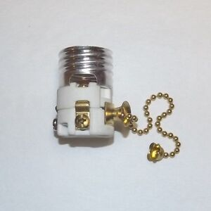 Image Is Loading Porcelain Pull Chain Lamp Socket Interior With Br