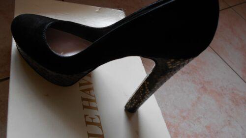Decoltee' E Havre Scarpe Pitone Pelle nero Tg Le In Paris 38 zqHHw6