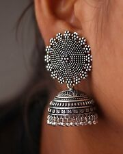 Antique Oxidized Celebrity Tribal Fashion Girl Party Jhumka Jhumki Earring Women